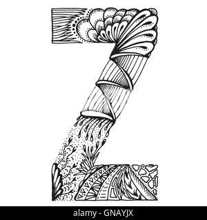 Zentangle stilisierten Buchstaben - Buchstabe Z - Stockfoto