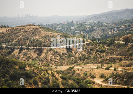 Blick vom Griffith Observatory, Los Angeles, Kalifornien, USA - Stockfoto