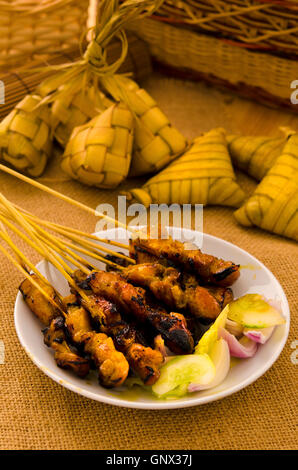 Satay malaiischen Hari Raya Lebensmittel, Schwerpunkt satay - Stockfoto