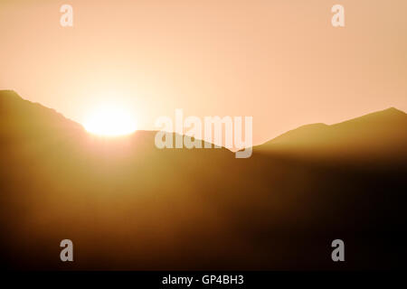 Sonnenuntergang über der Sawatch Range; Rocky Mountains; Zentralen Colorado; USA - Stockfoto