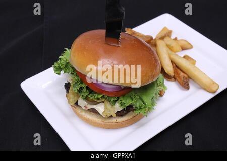 Jalapeno cheeseburger - Stockfoto