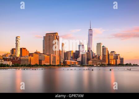 New Yorker Finanzviertel Stadtbild. - Stockfoto