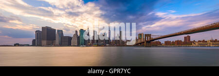 Skyline von New York City Panorama. - Stockfoto