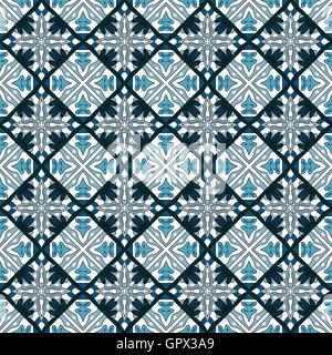 Nahtlose Muster Abbildung im traditionellen Stil - wie portugiesische Fliesen - Stockfoto