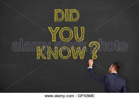 Wussten Sie Zeichnung auf Blackboard Hintergrund - Stockfoto