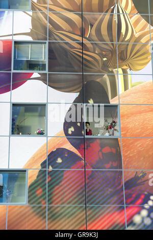 Innen neue Markthalle Rotterdam - Stockfoto