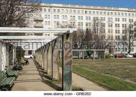 Karl-Marx-Allee, Berlin - Stockfoto