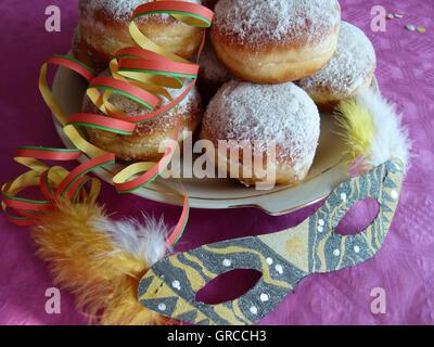 Karneval, Silvester, Donuts - Stockfoto