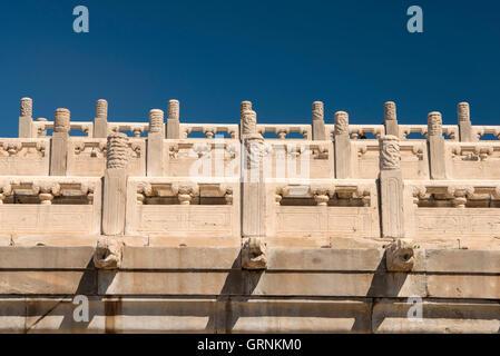 Drachenköpfe an der verbotenen Stadt in Peking, China - Stockfoto