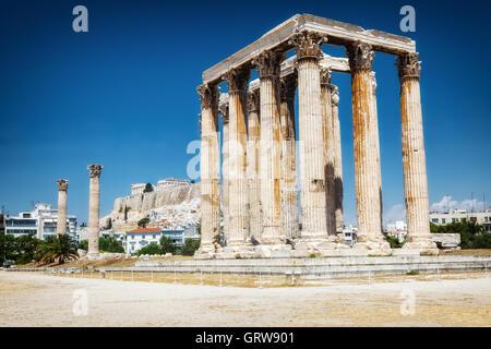 Antike Tempel des Zeus in Athen - Stockfoto