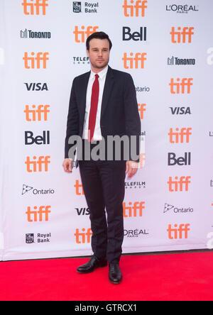 """Toronto, Kanada. 9. September 2016. Schauspieler Rupert Evans posiert für Fotos vor der Weltpremiere des Films """"American - Stockfoto"""