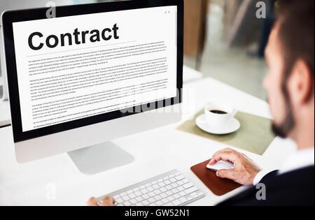 Vertrag Vereinbarung Engagement Verpflichtung Verhandlung Konzept - Stockfoto