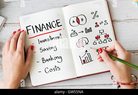 Finanzen Banking Kosten Anlagekonzept - Stockfoto