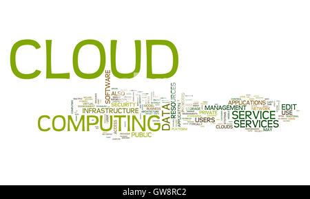 Cloud-computing Text cloud - Stockfoto