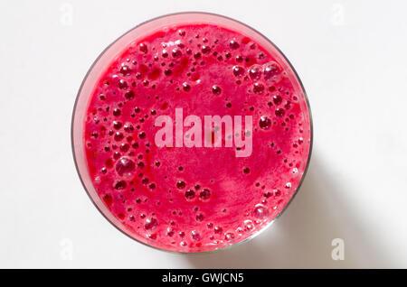 Frucht-Smoothie in Glas-Nahaufnahme - Stockfoto