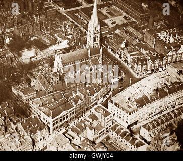 Das viktorianische London aus der Luft - Kensington - um 1900 - Stockfoto
