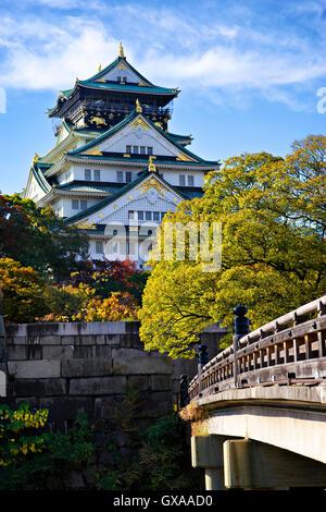 Japan, Honshu-Insel, Kansai, Osaka, Osaka Castle. - Stockfoto