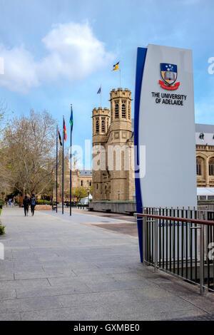 Der University of Adelaide auf dem North Terrace Campus in der Innenstadt von Adelaide. - Stockfoto