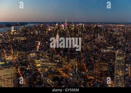 Manhattan Sonnenuntergang - Stockfoto