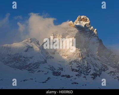 Monte Cervino (Matterhorn) Blick von Cervinia, Italien, Cervinia
