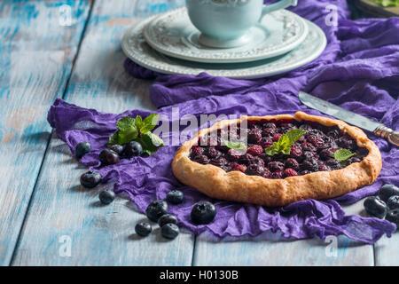 Hausgemachte Heidelbeer galette - Stockfoto