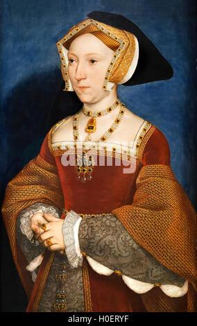 Jane Seymour (1508-1537), dritte Ehefrau von König Henry VIII von England, von Hans Holbein der jüngere, c.1536 - Stockfoto
