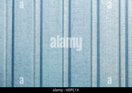 Wellpappe aus Blech Wand Hintergrundtextur - Stockfoto