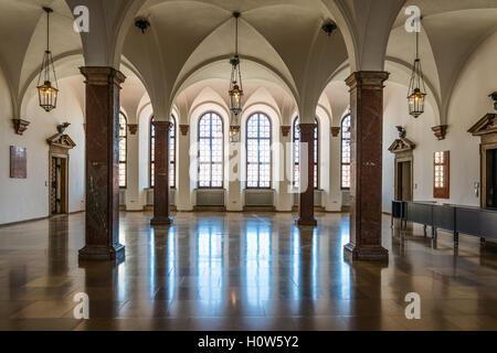 Augsburg, Deutschland - 8. September 2016: Innenraum des historischen Rathauses, Augsburg, Bayern, Deutschland, - Stockfoto