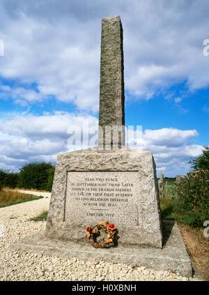 Denkmal für die Pilgerväter erster Versuch für die Religionsfreiheit auszuwandern. Haven, Fishtoft, in der Nähe - Stockfoto