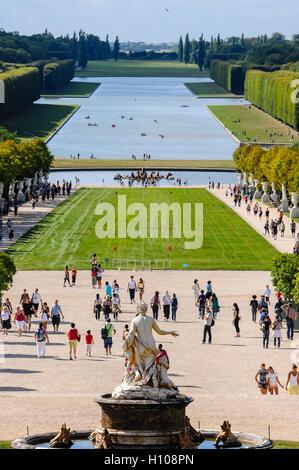 Das Schloss von Versailles oder einfach Versailles ist eine königliche Schloss in der Nähe von Paris, Frankreich. - Stockfoto