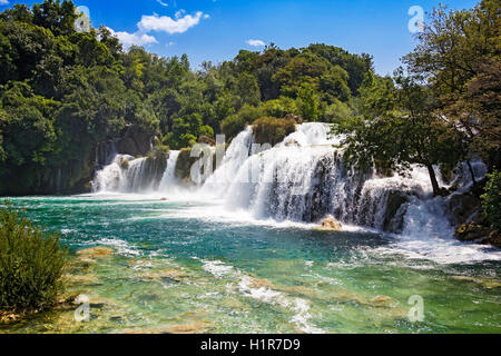 Nationalpark Wasserfälle Krka in Dalmatien Kroatien Europa - Stockfoto