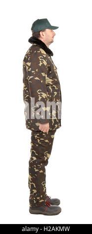 Wachmann in grüner uniform - Stockfoto
