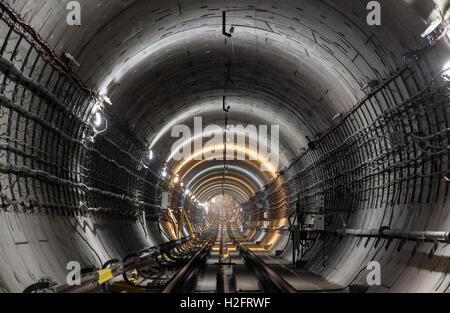 Neue u-Bahn-Tunnel - Stockfoto
