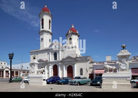 Catedral De La Purísima Concepción am Parque Jose Marti, Dom, Altstadt Zentrum, Cienfuegos, Provinz Cienfuegos, - Stockfoto