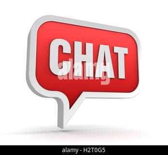 Chat-Konzept 3d illustration - Stockfoto