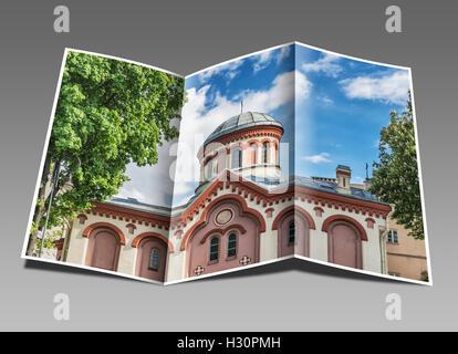 Die St. Paraskeva Kirche ist eine russische orthodoxe Kirche in der Altstadt von Vilnius, Litauen, Baltikum, Europa - Stockfoto