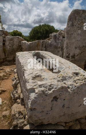 Talyoitic Siedlung in Menorca, Torre d ' en Galmés - Stockfoto