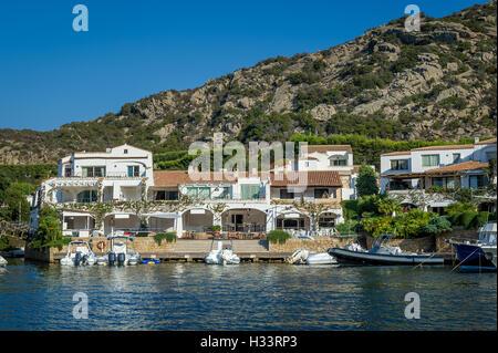 Poltu Quatu Luxus Resort Treppenaufgang Pier, Sardinien - Stockfoto