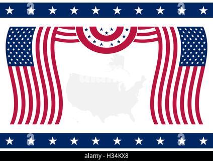 Amerikanische Flagge Hintergrund - Stockfoto