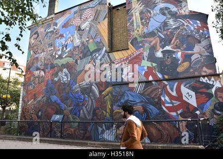 Cable Street, London, UK. 4. Oktober 2016. Kabel-St 80. Todestag begangen wird. - Stockfoto