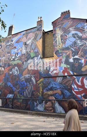 Cable Street, London, UK. 4. Oktober 2016. Kabel-St 80. Todestag begangen wird.