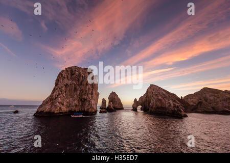 Sonnenaufgang über Endland, Finnisterra, Cabo San Lucas, Baja California Sur, Mexiko - Stockfoto