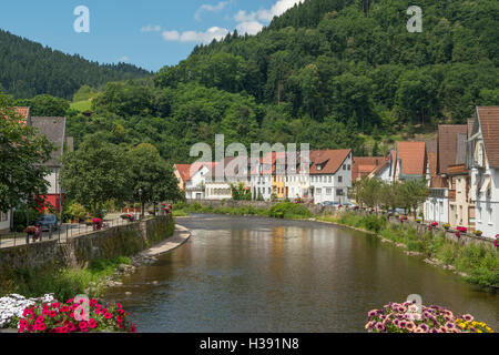 kinzig fluss wolfach schwarzwald baden w rttemberg deutschland stockfoto bild 13423947 alamy. Black Bedroom Furniture Sets. Home Design Ideas