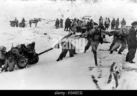 Deutsche Kolonne auf der östlichen Frontseite, 1944 - Stockfoto