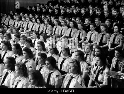 Eröffnung des Kriegsberufswettkampf der deutschen Jugend in der Berliner Kroll-Oper Haus, 1943 - Stockfoto