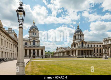 Das Old Royal Naval College in Greenwich, London, Großbritannien. - Stockfoto