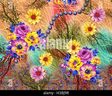 Blumen Frühling nahtlose Muster