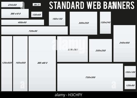 vertikales Design-Standardgröße-Web-Banner mit diagonalen, Runde ...