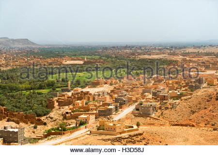 Die alte Stadt von Tinghir im Atlasgebirge Marokkos. - Stockfoto