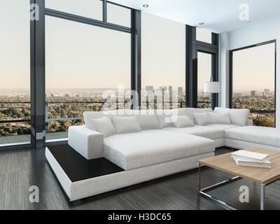 Große moderne weiße kombinierbares und Tagesbett in einem Luxus ...